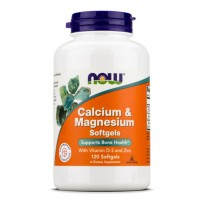 NOW Foods Calcium & Magnesium Softgel with D3 and Zinc 120 softgel